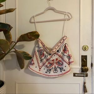 Free People Embroidered Tube Top